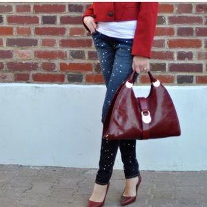 rag and bone Paint Splatter Skinny Jeans - 29